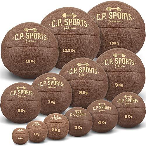 C.P.Sports K5 - Balón medicinal de piel, color marrón, color marrón, tamaño 0,5-KG