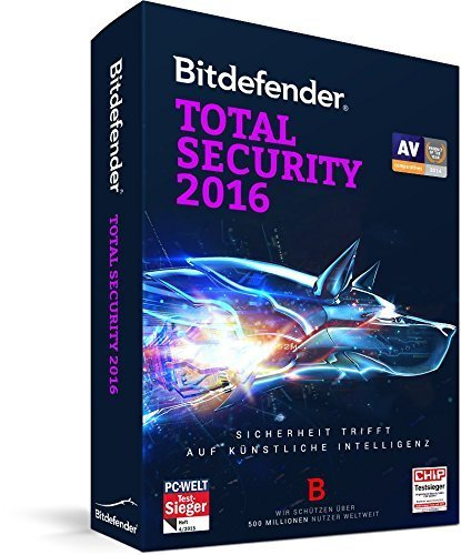 Bitdefender Total Security 2016 - 1 PC | 1 Jahr – (Lizenz)