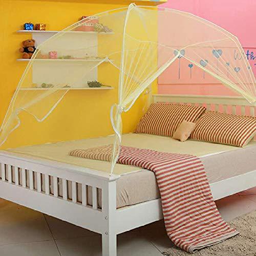 LJQLXJ Mosquitera double door yurt mosquito net single double zipper adult canopy bed mosquito net safety net,Black,180 x 200cm