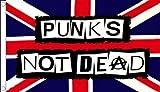 AZ FLAG Punks not Dead Flag 3' x 5' - UK Punk - Union Jack Flags 90 x 150 cm - Banner 3x5 ft