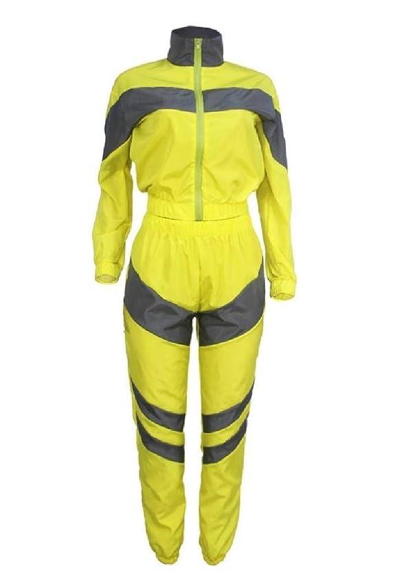 トライアスロン変形する特にBeeatree 女性のカラースプライス防風ロングスリーブ