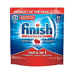 Finish Max in 1 Powerball Wrapper Free Dishwasher Detergent Tablets 67 ea