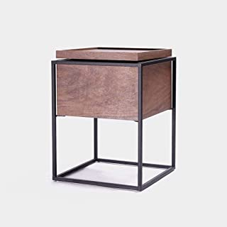 File cabinets Nightstand Bedside table Dressing Table Simple Iron Art Apartment Corner Sofa Modern Side Wood+steel+metal S...