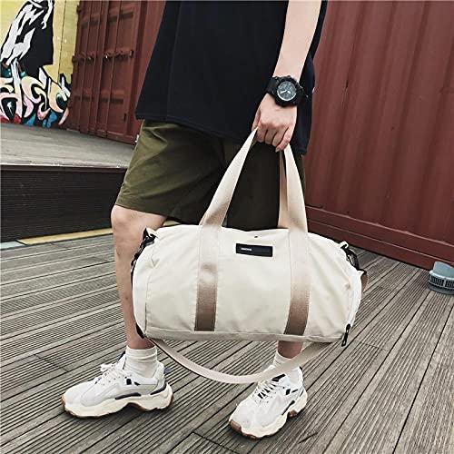 Lankfun Borsone,Borsa da Viaggio in Nylon Sport Fitness Bag-Small Beige,borsoni da Viaggio Grandi