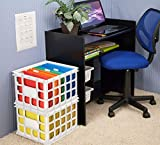 Sterilite 16928006 Storage Crate, White, 6-Pack...