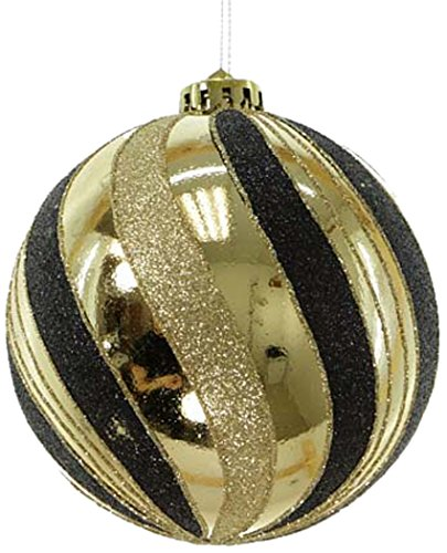 Black and Gold Ornament Christmas Tree Decorations