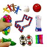 Not application 16 unids Sensory Fidget Juguetes Descompresión Juguete Kit de Mano de Dedo Set Adecuado para Niños y Adultos