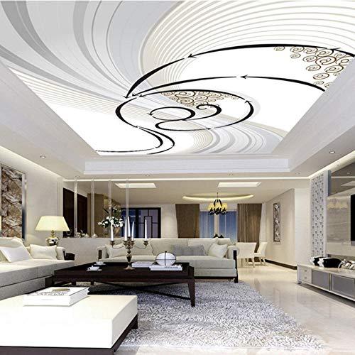 Behang 3D vliesbehang, bedrukt, abstract, kunst, woonkamer, dakbed, wandschildering, 3D-muurschildering, 280 (L) x 180 cm (H)