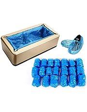 Automático de cubierta de zapatos con 200 unidades de fundas de plástico desechables, dispensador para zapatos