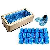 OUKANING Automático de Cubierta de Zapatos con 200 Unidades de Fundas de plástico Desechables, dispensador para Zapatos