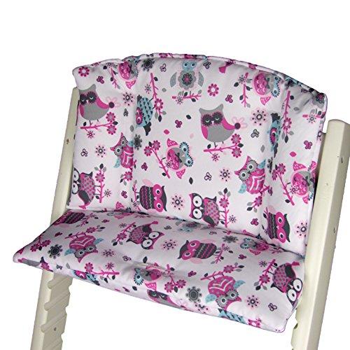 Babys-Dreams le monde des petits - Kit de chaise coussin pour chaise haute Stokke Tripp Trapp Hibou Chouette