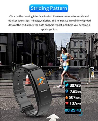 Pulsera inteligente con pantalla a color, monitor de frecuencia cardíaca impermeable, Fitness Tracker Bluetooth, reloj… 8