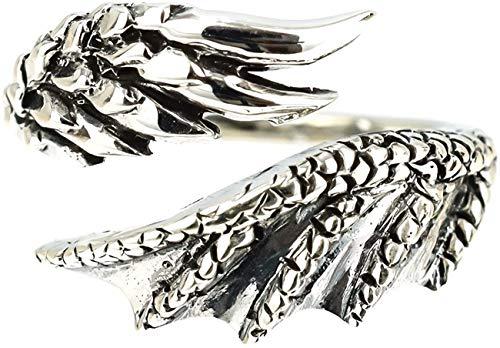 ジナブリング (JINA BRING) 龍 ドラゴンクロウ翼ウィング フリーサイズ ピンキーリング ファランジリング #13 シルバー925
