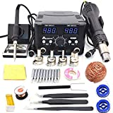 2 in 1 800W LED Digital Soldering Station Hot Air Gun Rework Station