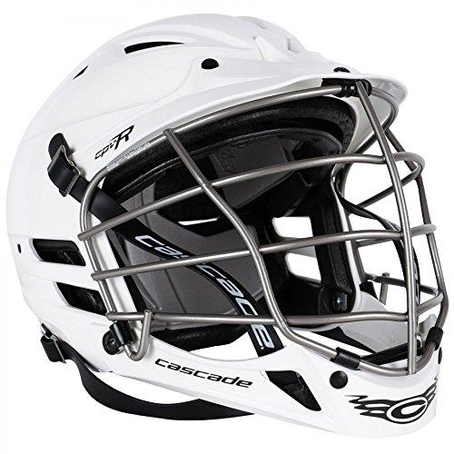 Cascade White CPV-R Lacrosse Helmet Silver Mask-Med/Lg