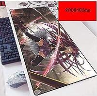 マウスパッド魔法少女スピードゲーミングマウスパッドXXLマウスパッド900 x 400mm大型3mm完璧な精度とスピード あ