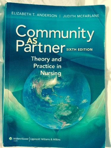 Price comparison product image Community As Partner Theory and Practice in Nursing