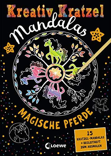 Kreativ-Kratzel Mandalas - Magische Pferde: für Mädchen ab 5 Jahre