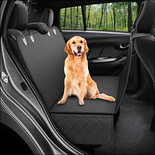 Cubierta de asiento de coche para perros Impermeable y sin deslizamiento Cubiertas de asiento trasero para perros Hamaca de viaje con anclajes de asiento, lavable a máquina, duradero, universal encaja