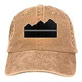 Sombrero Snapback Bandera De EE. UU. Bandera Delgada De Línea Gris Mapa De Colorado Gorra De Camionero Sombrero De Papá Deportes Al Aire Libre Protector Solar Personalizado Ajusta
