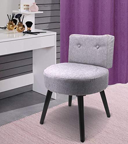 QM Basic SCHMINKHOCKER mit LEHNE Cocktailsessel Sessel Stuhl Hocker Polsterstuhl klein