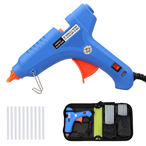 Heavy-Duty Hot Glue Gun 100W with 10 pcs Glue Sticks and Carry Bag, ANBES Professional High Temperature Hot Melt Glue Gun Kit for DIY Craft and Quick Repairs in Home Office Factory