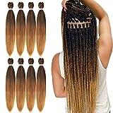 Pre Stretched Braiding Hair 30 Inch 8 Packs...