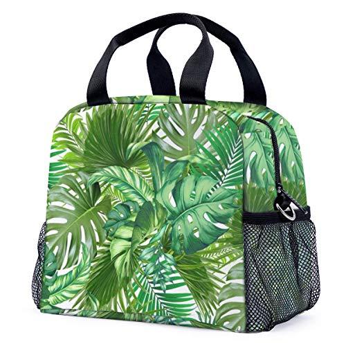 Green Tropic Art Print - Bolsa térmica reutilizable resistente al agua para el almuerzo, bolsa de...