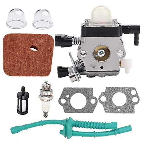Cortabordes carburador Kit carburador Reemplazo Compatible con STHIL FS38 FS45 FS46 FS55 FS85 km55 EdgerTo mantener el equipo en la mejor condición operativa