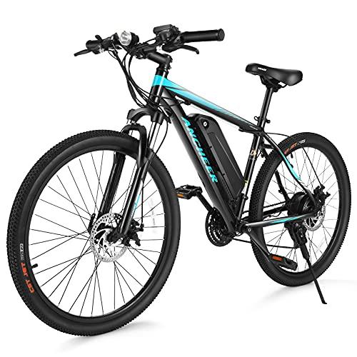 ANCHEER Electric Bike Electric Mountain Bike 350W Ebike 26'' Electric Bicycle,...