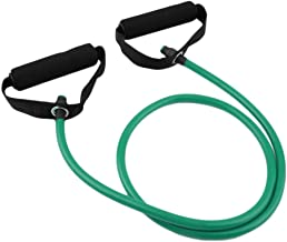 Home Fitness Exercise Pull Rope Tube Resistance Elastic Equipment Yoga Gym Bands Green
