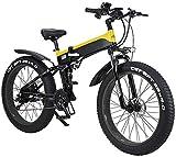 Bicicleta eléctrica de nieve, 26' Montaña de bicicleta eléctrica plegable for adultos, 500W vatios de motor 21/7 plazos de envío Shift Bicicleta eléctrica for la ciudad de Tráfico de ciclo al aire Tra