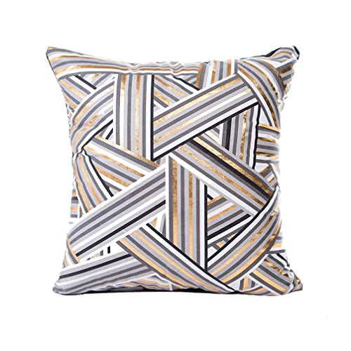 LuckyGirls kissenbezüge Goldfolie Druck Kissenbezug Sofa Pillowcase Home Decor (45cmX45cm)