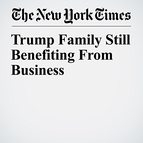 Trump Family Still Benefiting From Business copertina