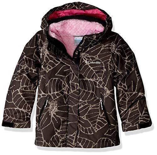 Columbia Girls Bugaboo Ii Fleece Interchange Jacket, Black Floral, X-Large