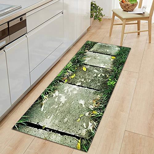 NoNo keukenmat, tapijt, polyesterweefsel, groen vloerkleed, vloer, deurmat, antislip, absorbeert water, keukenmat, tapijt