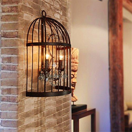 YU-K Lámpara de pared de estilo antiguo, fabulosa Gateway Corridor Light IroBar Hotel Villa dormitorio sobre el cristal perfecto para casa y restaurante, cafetería Club