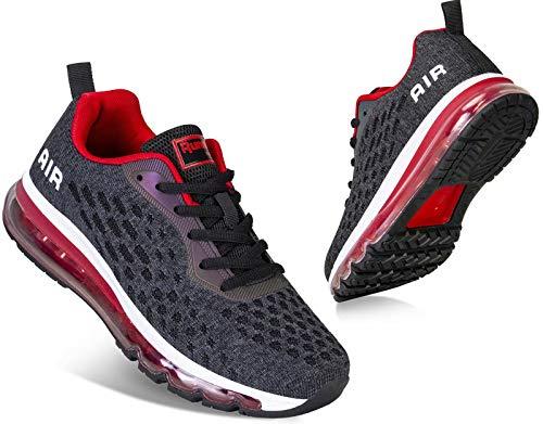 Mabove Męskie damskie buty do biegania, buty sportowe, buty do biegania po ulicy, sneakersy, oddychające, do biegania, fitnessu, na siłownię, wielokolorowa - czarny R Hk78 - 46 EU