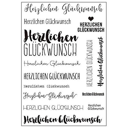 ECMQS German DIY Transparente Briefmarke, Silikon Stempel Set, Clear Stamps, Schneiden Schablonen, Bastelei Scrapbooking-Werkzeug
