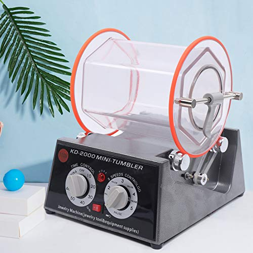 5Kg Jewelry Polisher Finisher Rotary Tumbler with Extra Polishing Bead 110V Will Not Corrode Or Rust