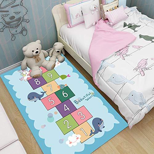 Kids Play Mat Rug for Grawling, Space Themed Slight Mat Education Learning Carpet Funny Niños Área Alfombra para la Sala de Juegos para niños pequeños Decoración de la habitación-image5_80 * 120cm