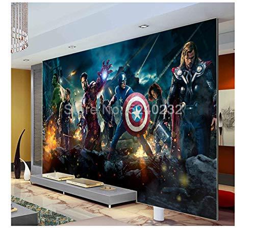 WallDiy personalizado 3d Avengers wallpaper murales de pared para habitación de niños cartel de película decorativo pintura de pared impermeable