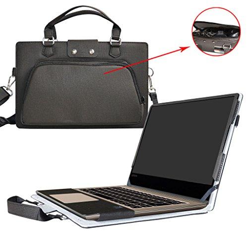Yoga 910 Hülle,2 in 1 Spezielles Design eine PU Leder Schutzhülle + Portable Laptoptasche für 13.9