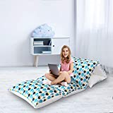 Biloban Floor Lounger Seats Cover and Pillow Cover,'32 x 88' Floor Cushion Cover, Non-Slip and Super Soft for Toddler Nap Mat, The Great Floor Lounger for Kids, Perfect for Slumber Party, Fish