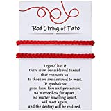 DESIMTION Red String of Fate Good Luck Protection Couples Bracelets for Boyfriend and Girlfriend Him and Her Long Distance Relationships Gifts