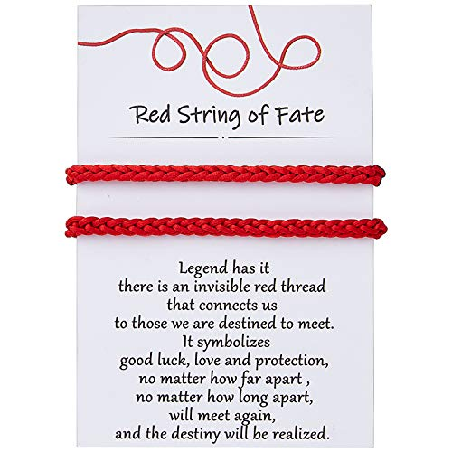DESIMTION Red String of Fate Bracelets Good Luck Protection Couples Bracelets for Boyfriend and Girlfriend Him and Her Long Distance Matching Bracelet
