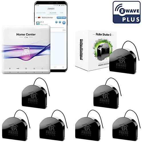 FIBARO Rolladensteuerung. Z-Wave Smart Home System für 7 elektrische Rolläden oder Jalousien mit gratis App. Alexa kompatibel.