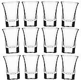 Set di bicchierini da shots da 2 cl in vetro opaco satinato per Vodka,Tequila,...