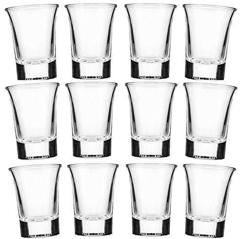 Tequila Wodka - Vasos de chupito (12 unidades, 4 cl, aptos para lavavajillas)