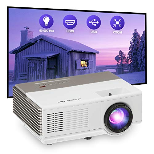 WIKISH Portable Mini Led Projector Outdoor Full HD 1080p Support Movie Projector Home Theater Gaming for Smart Phone Tv Stick Laptop Ps5 Wii Hdmi Usb